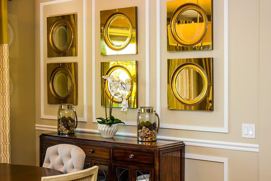 Hang a set of mirrors