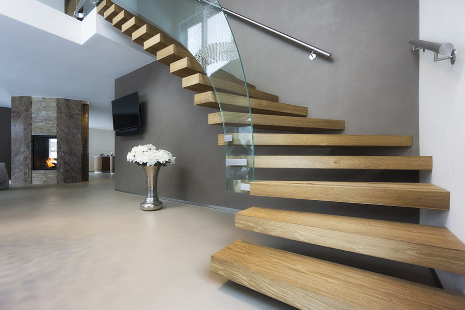 How are Floating Stairs Supported?