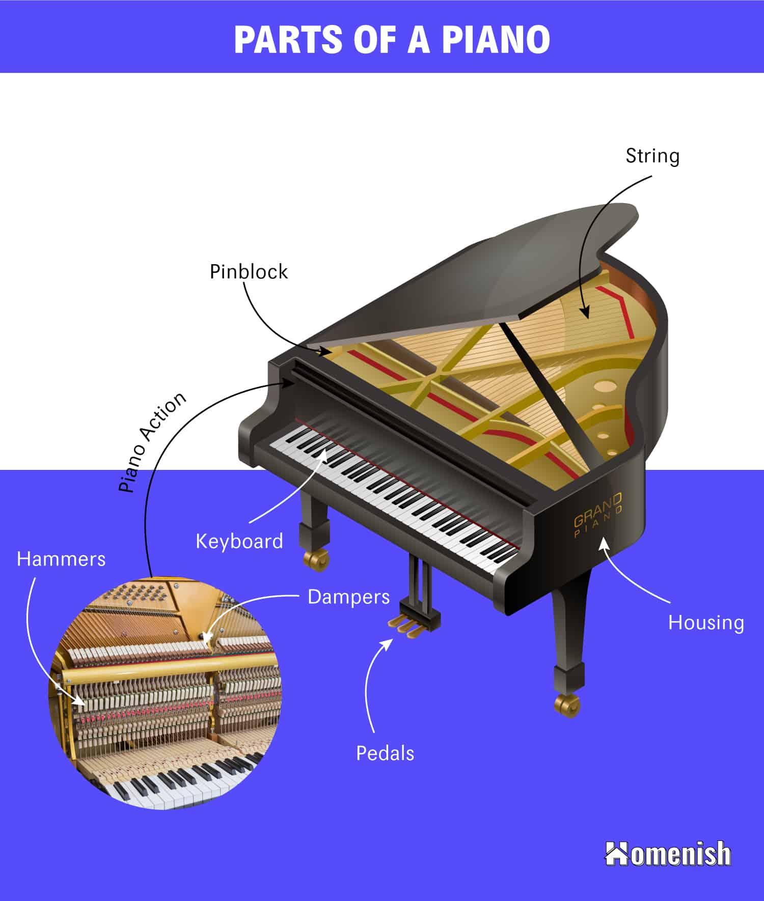 Parts of a Piano Diagram