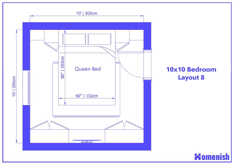 10x10 Bedroom Layout 8