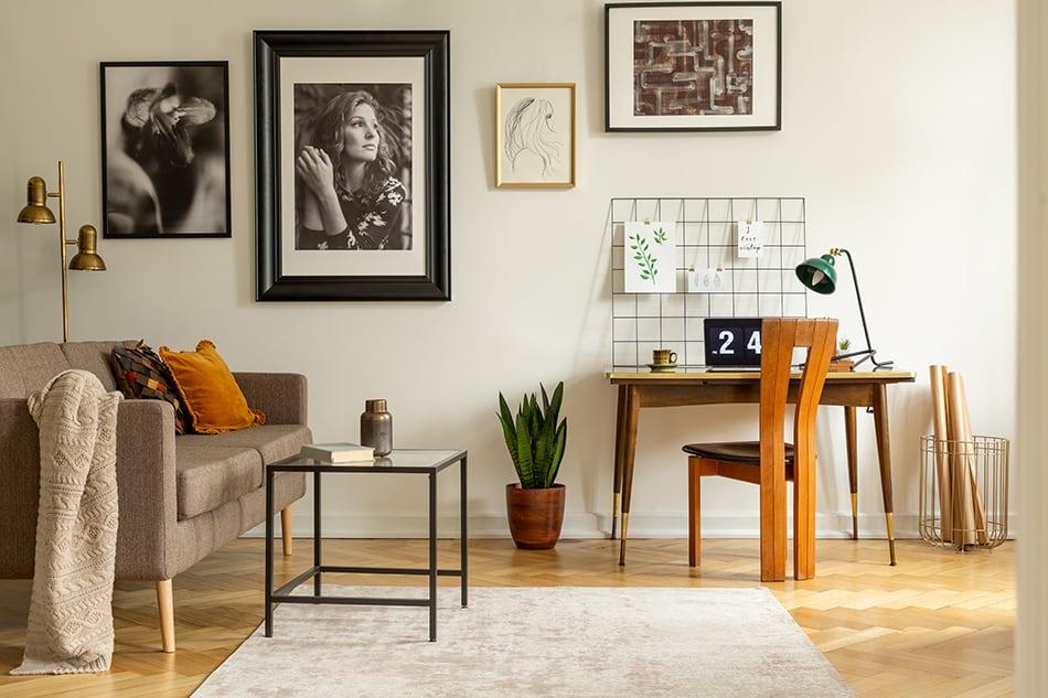 Area Rug in a Minimalist Open-Plan Office