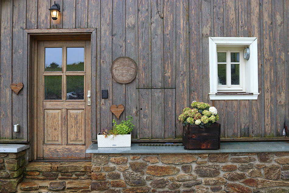 Brown Wooden Door on Brown Wooden Exterior