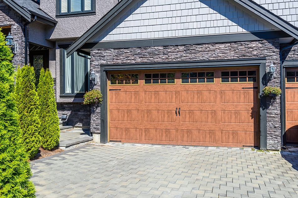 Double carriage style doors