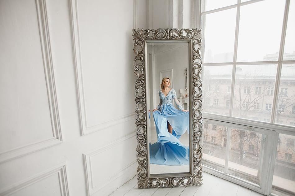 Leaning Full-Length Mirror