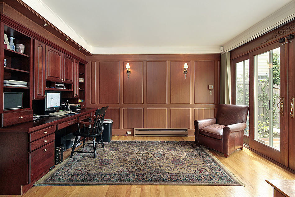 Oriental Rug in a Luxury Home Office