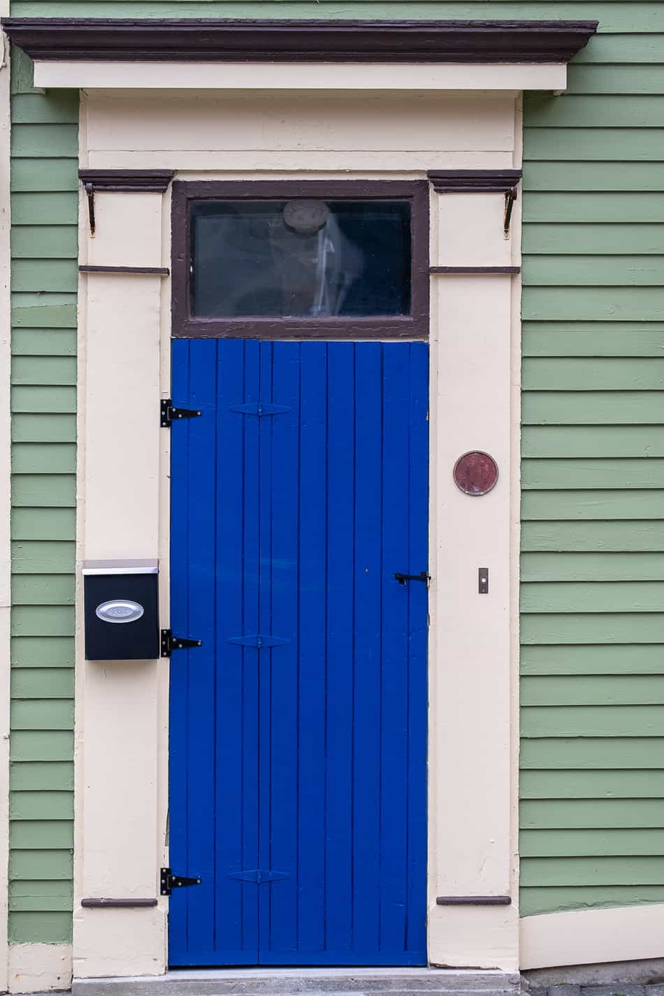 Royal Blue with Cool Green Siding