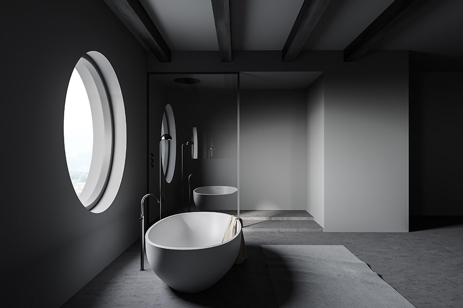 The soup-bowl freestanding tubs