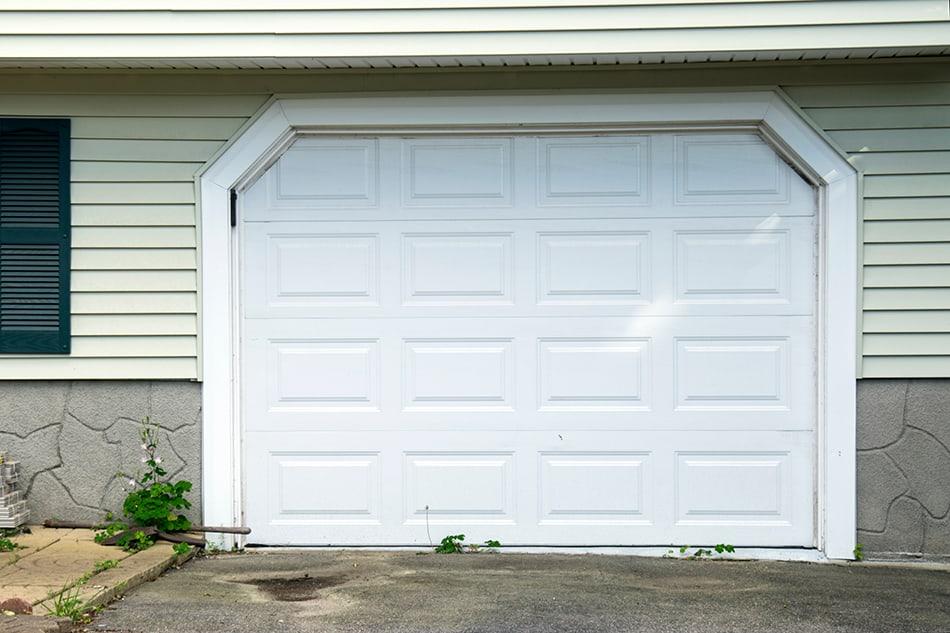 Vinyl faux wood garage doors