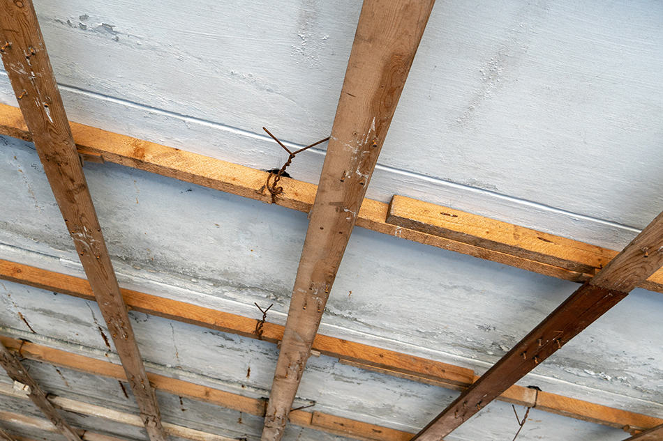Wooden Plank Ceiling