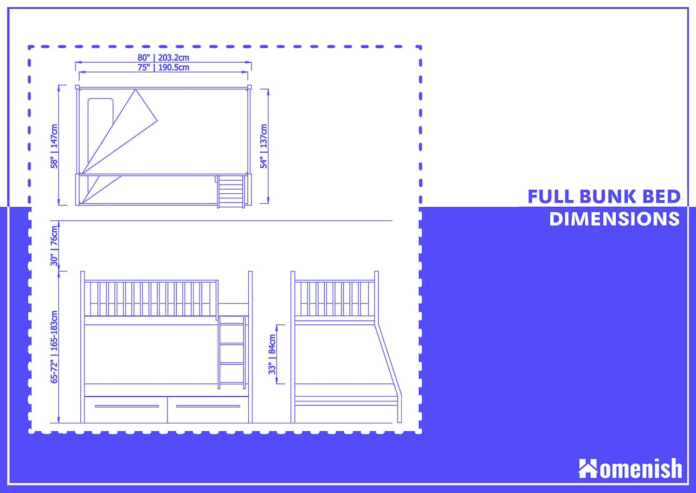 Full Bunk Bed Dimensions