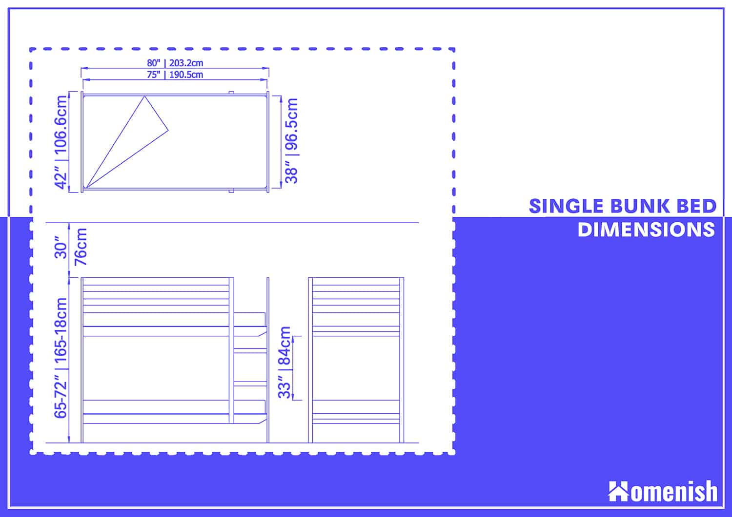 Single Bunk Bed Dimensions