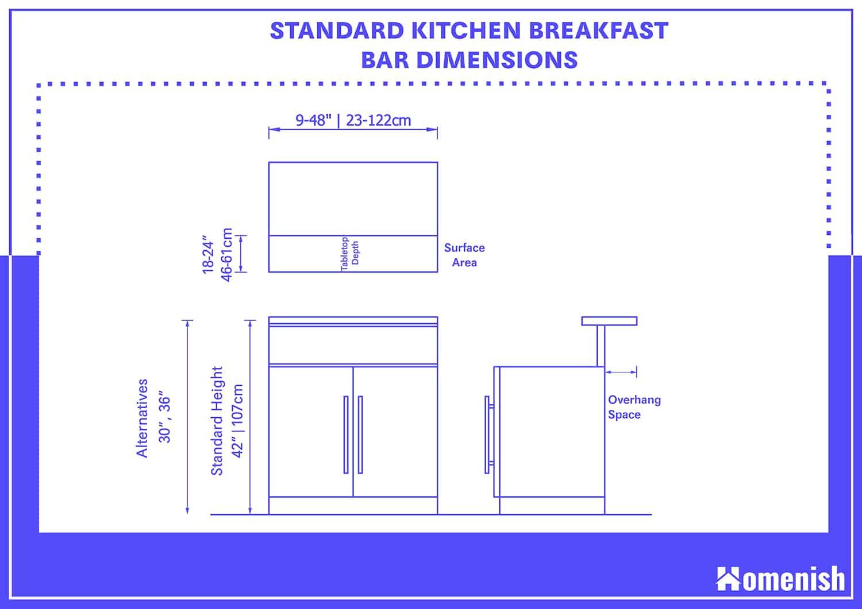 Standard Kitchen Breakfast Bar Height