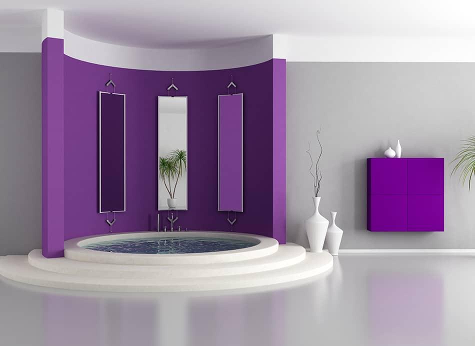 Add a Feature Wall in Purple