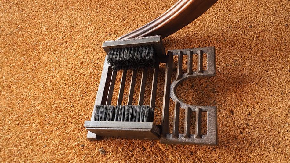 Angled Brush Boot Cleaner