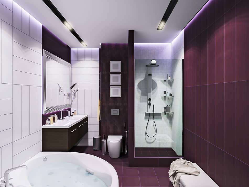 Balance Purple with White