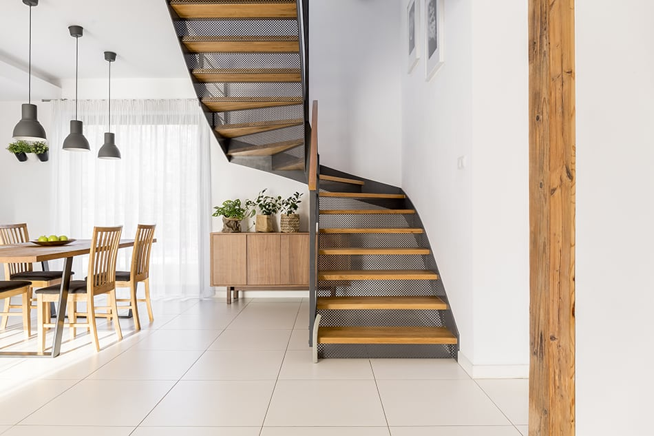 Blend Modern Staircase with Open-Plan Spaces
