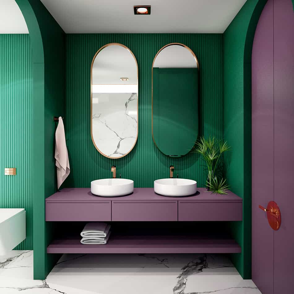 Don't Limit Your Bathroom with Just One Color