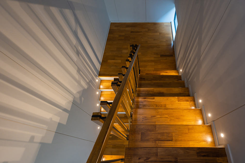 Wooden Staircase for an Urban Feel