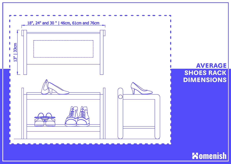 Average Shoe Rack Dimensions