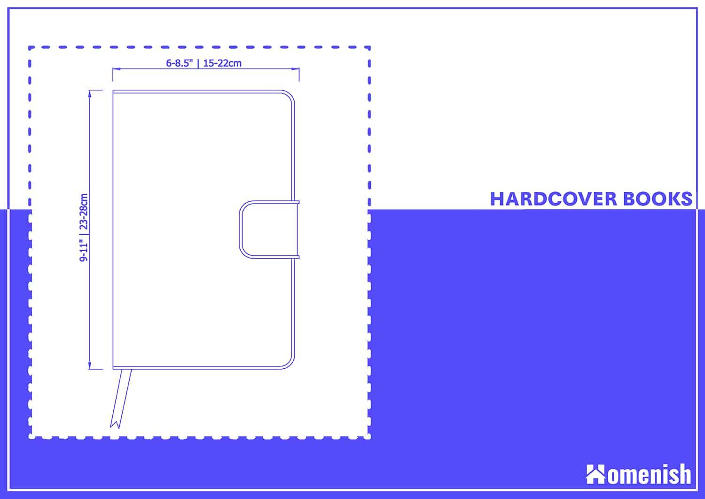 Hardcover Books Dimensions