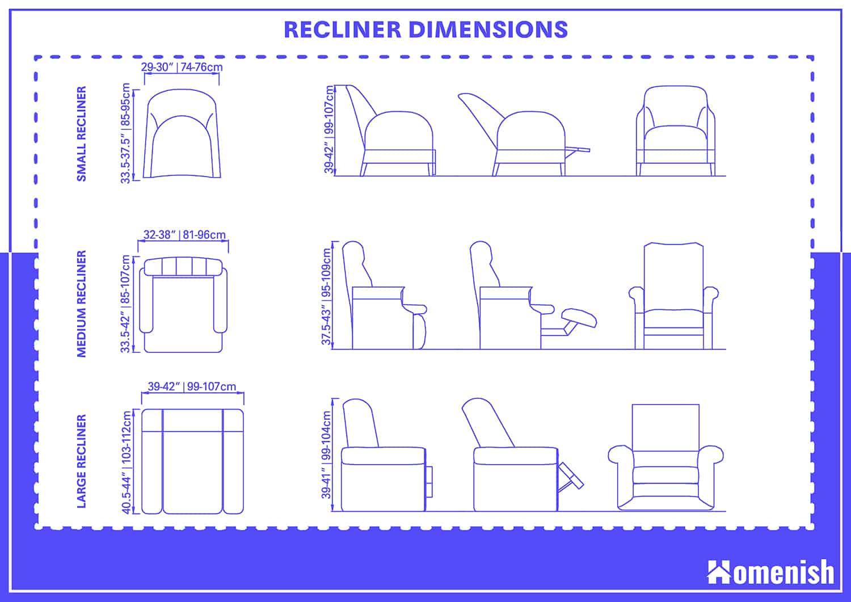 Average Recliner Dimensions