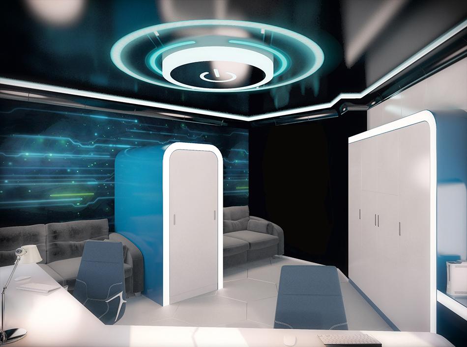 A Captain's Bedroom