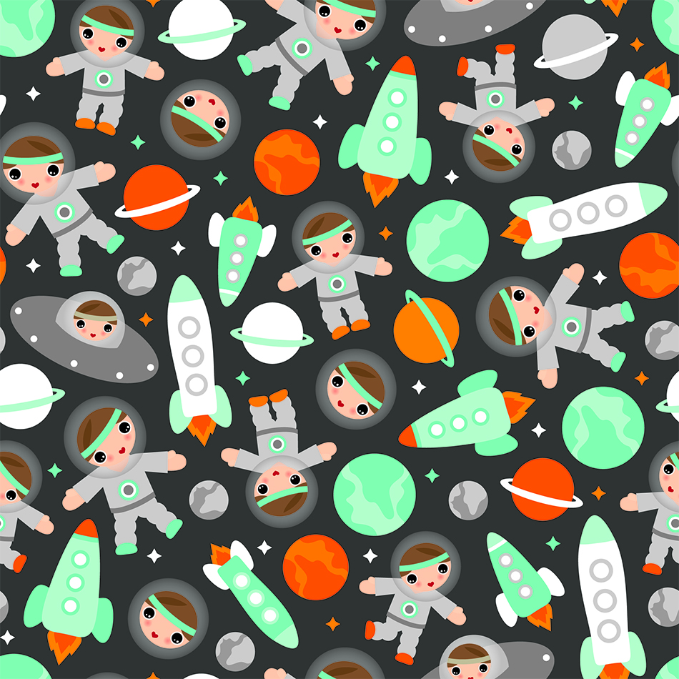 Science and Space Motif Wallpaper
