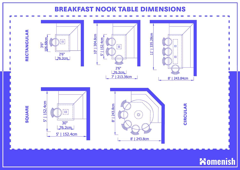 Breakfast Nook Dimensions