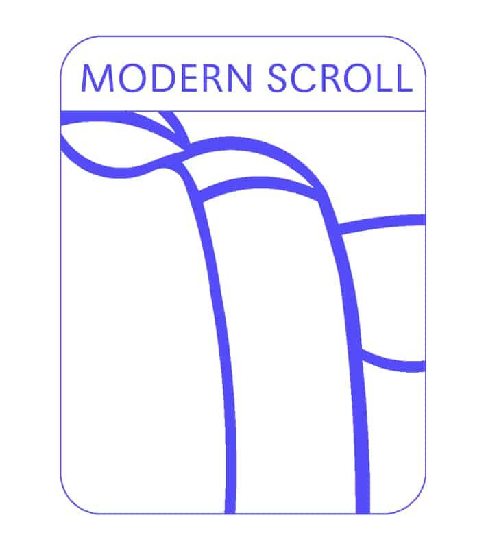 Modern Scroll Sofa Arm
