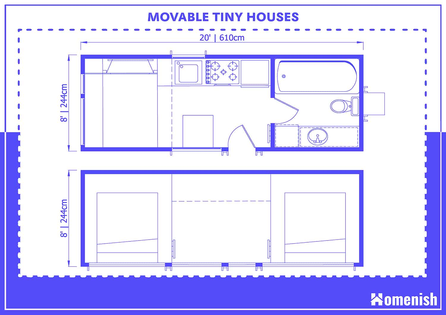 Movable Tiny House Dimensions