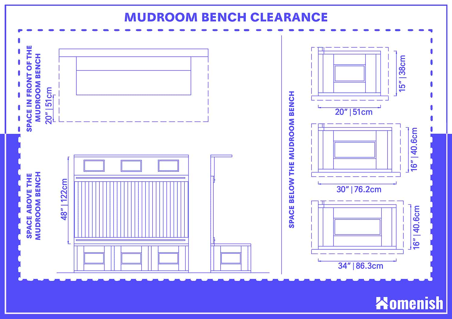 Mudroom Bench Clearance