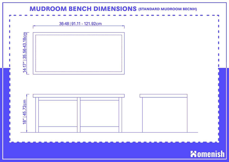 Mudroom Bench Dimensions