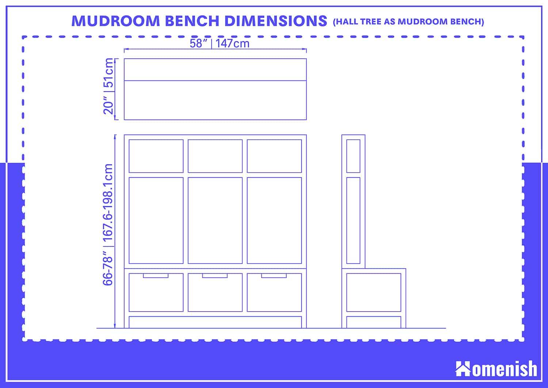 Mudroom Bench Dimensions (Hall Tree as Mudroom Bench)