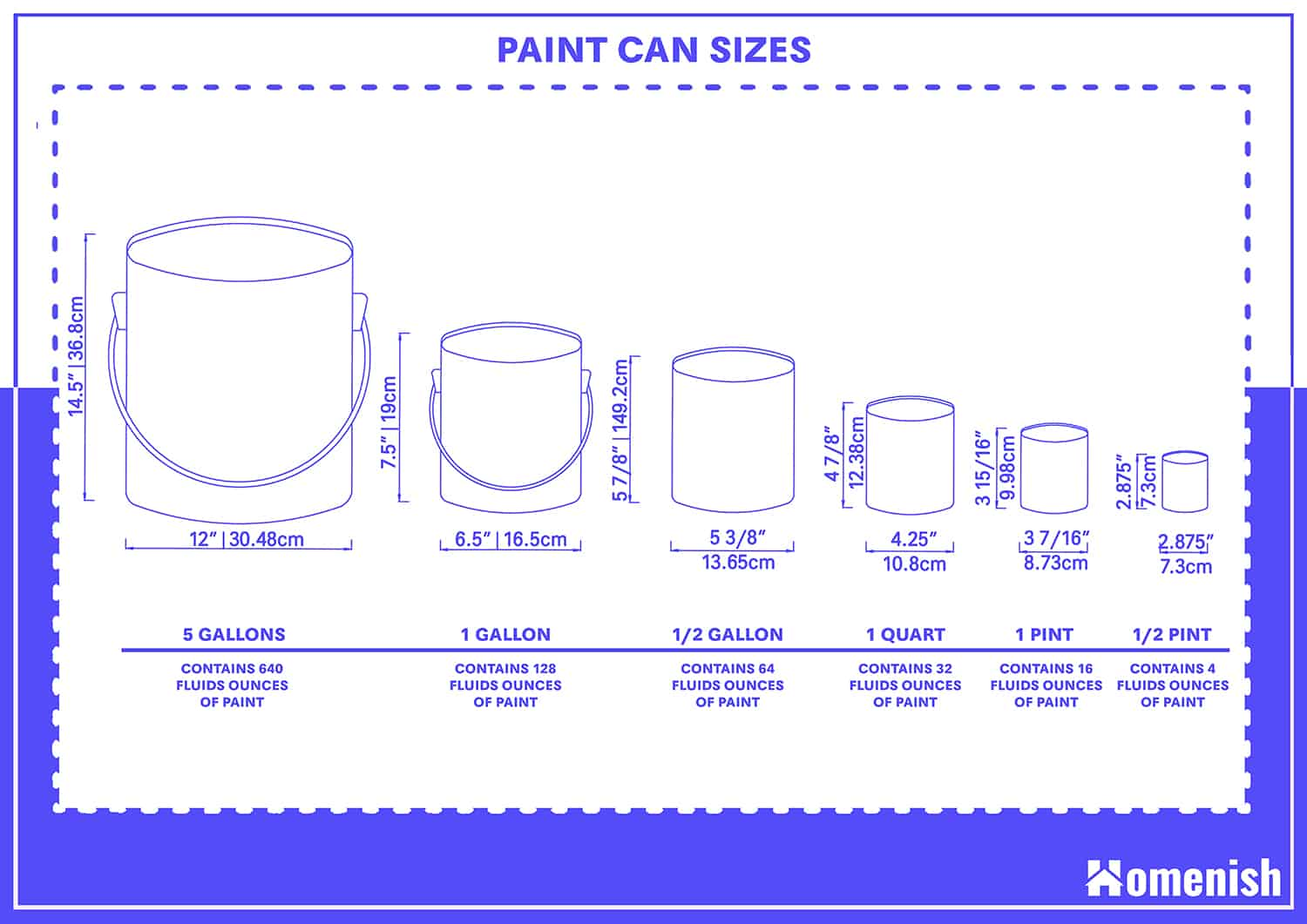 Paint Can Sizes