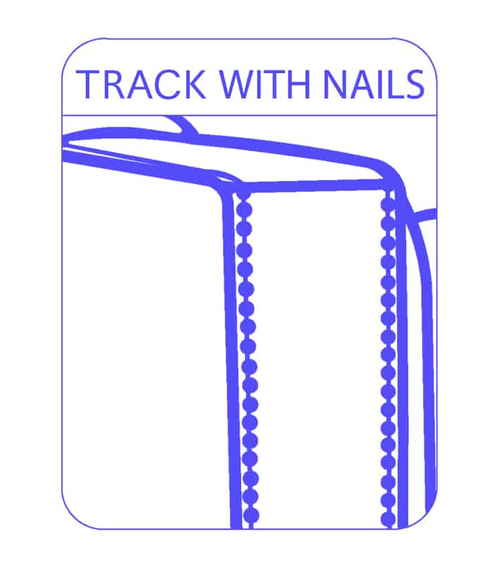 Track with Nails Sofa Arm