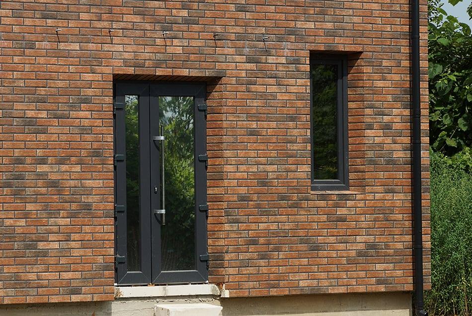 Black and Brown Brick