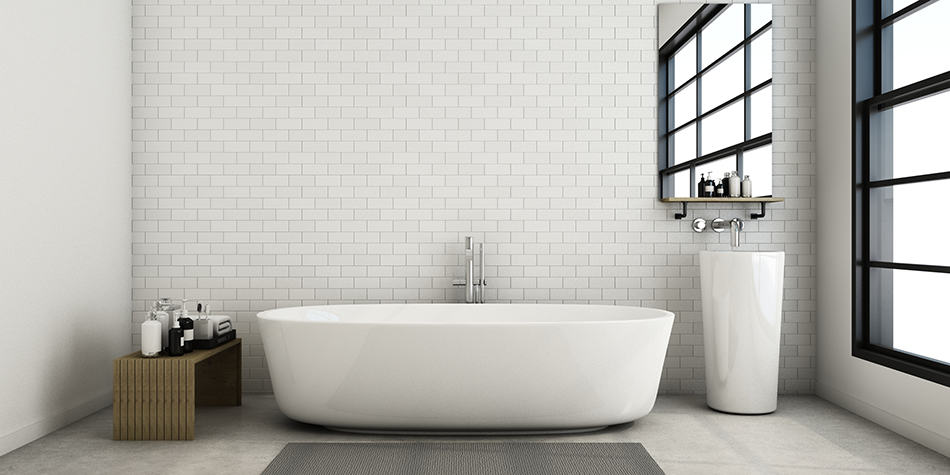 Brick in Bathroom Walls