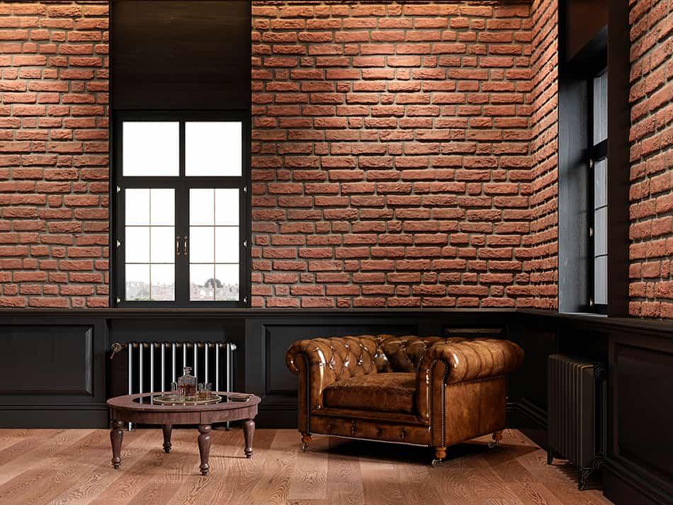 Brown and Brown Brick
