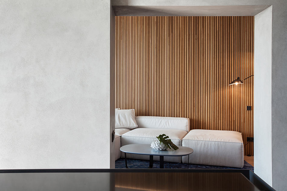Cream Color with Wood Paneling