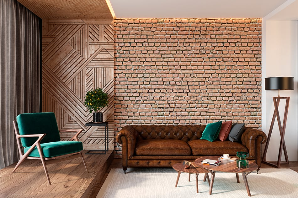 Gold and Brown Brick