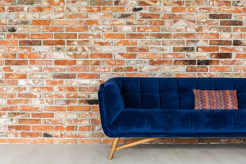 Navy Blue and Brown Brick