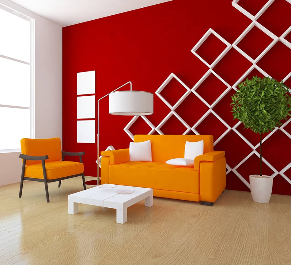 Orange and Red