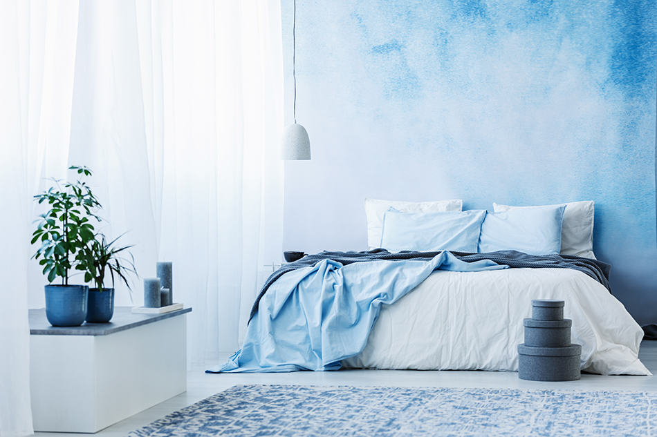 Sky Blue and White