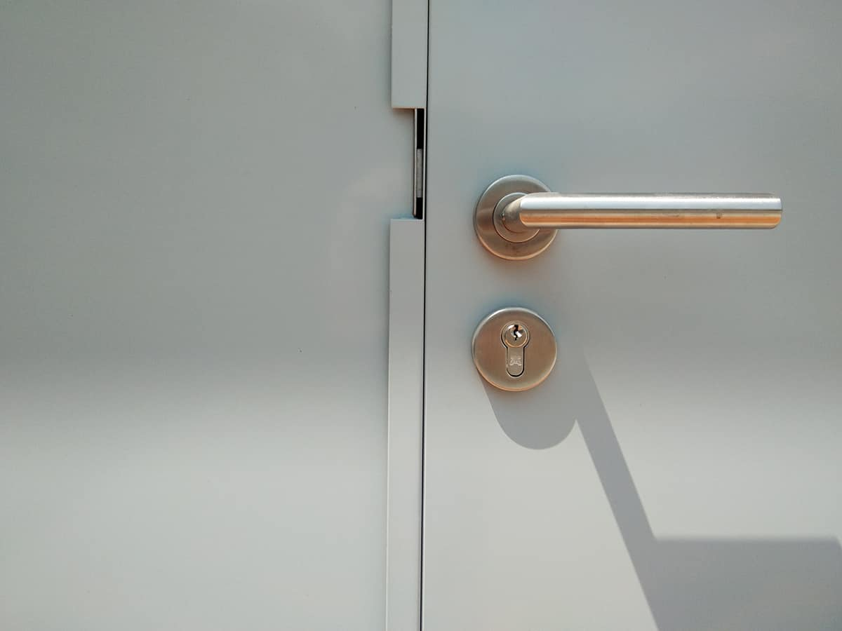 Stainless Steel or Chrome Doorknob