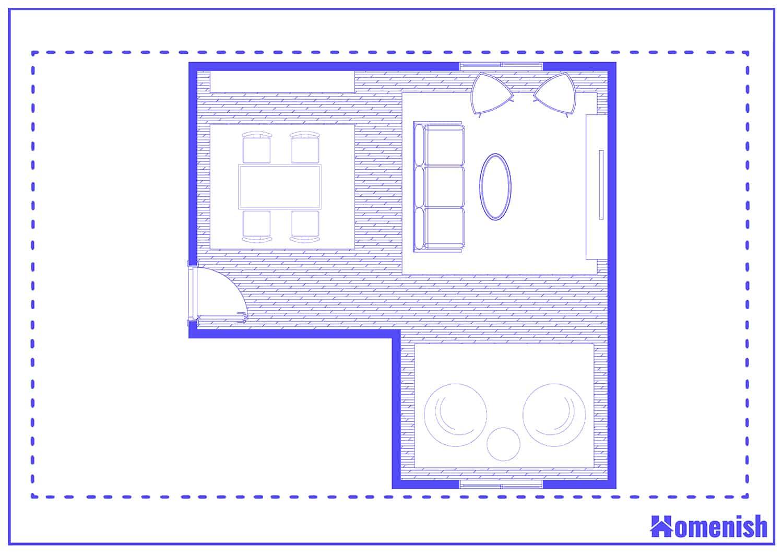 Area Rug Arrangement Layout