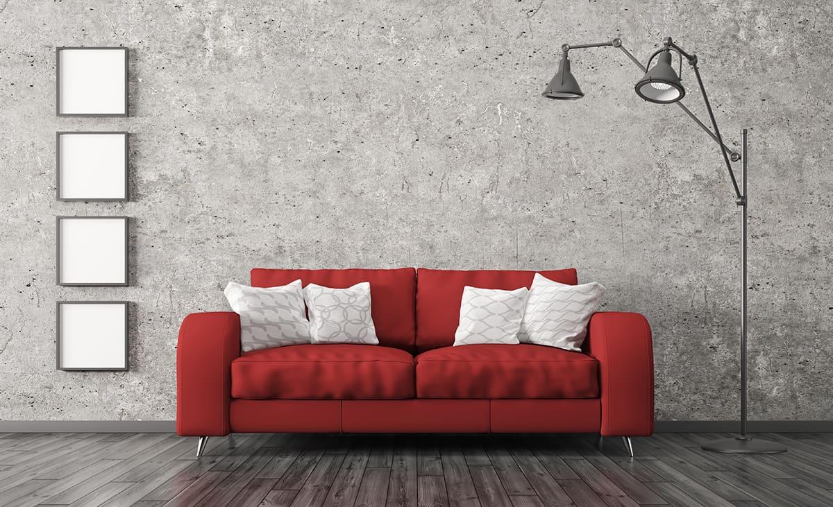 Grey Wall as a Neutral Backdrop