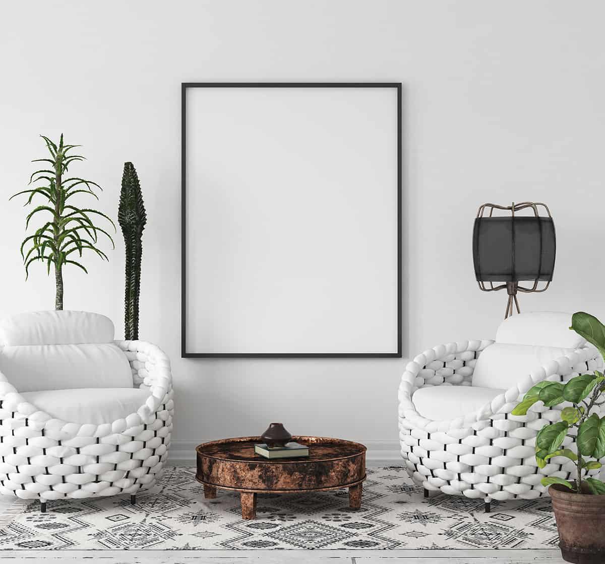 Use Black and White Decor in Boho Theme