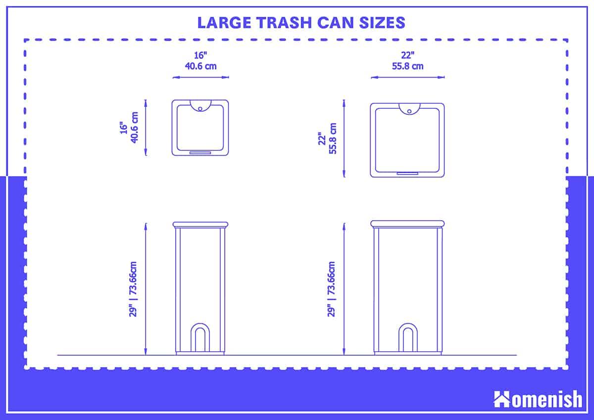 Large Trash Can Sizes