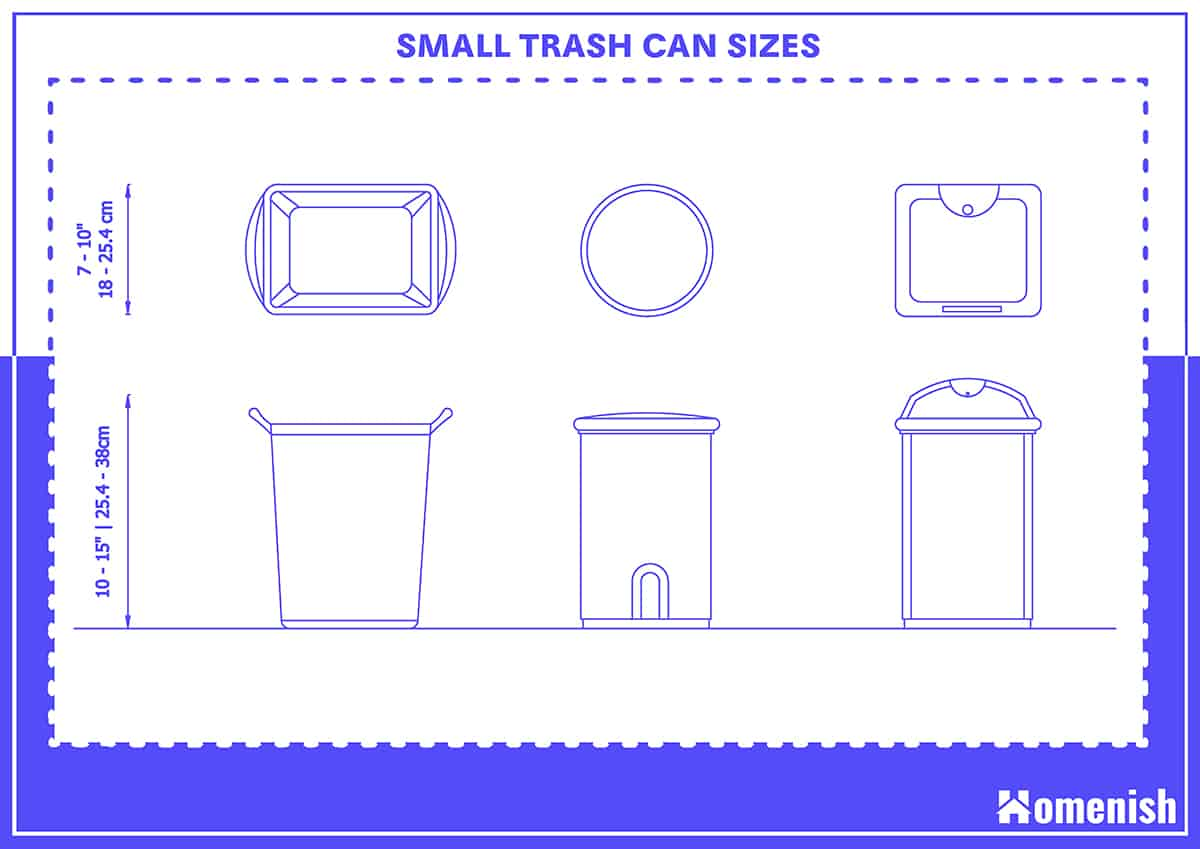 Small Trash Can Sizes