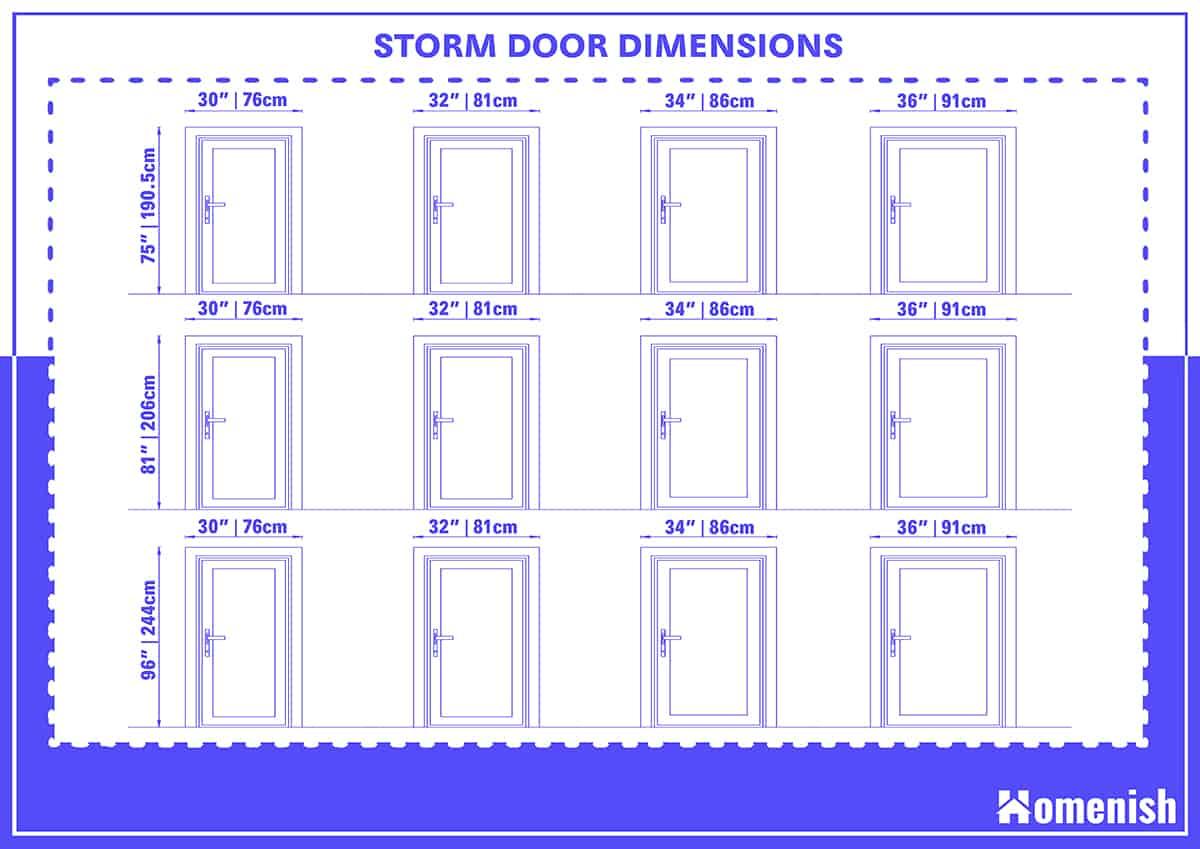 Storm Door Dimensions
